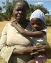 Harriet met haar oma